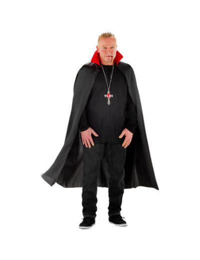 Kostuum Vampieren Cape met LED Kraag - Heren