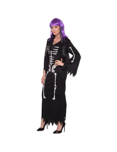 Kostuum Skeletten Jurk - Dames