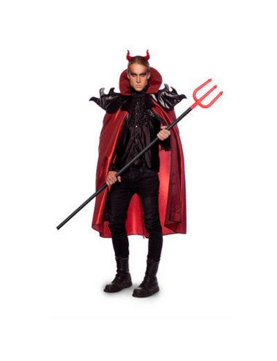 Kostuum Duivel Cape - Heren