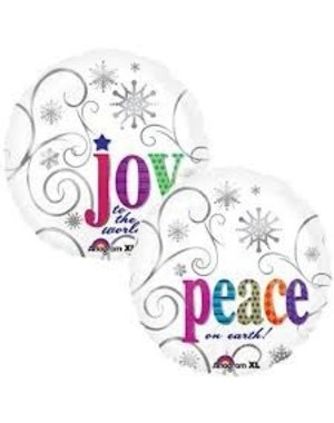 Peace & Joy Kerst Helium Folieballon