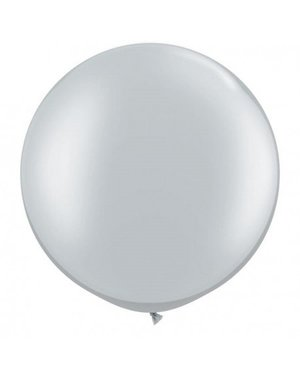 Top Ballon Zilver Metallic XL - 90cm Qualatex