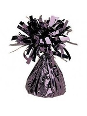 Zwarte Metallic Finish Folie Helium Ballongewicht