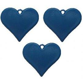 Blauw Plastic Hartvormig Ballongewicht