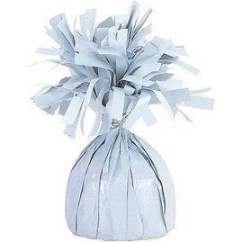 Witte Metallic Finish Folie Helium Ballongewicht