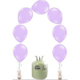 Heliumfles met 25x Lila Knoopballonnen Ballonboog