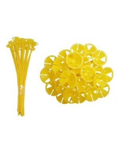 10x Gele Ballonstokjes