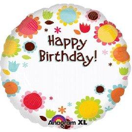 Happy Birthday Persoonlijke Folie Ballon