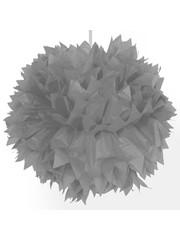 Zilveren PomPom Decoratie