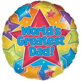 World's Greatest Dad! Vaderdag Folie Ballon
