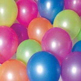 10x Mix Neon Kleuren Ballonnen