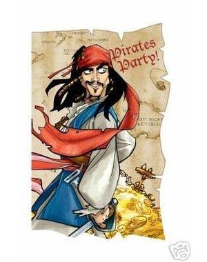 Piraten Pirates of the Caribbean Uitnodigingen