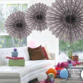 Zilveren Honeycomb Waaiers Paper Fans