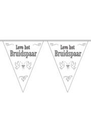 Leve Het Bruidspaar Vlaggenlijn Versiering