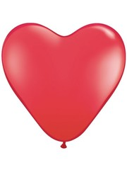 Hartjes Ballonnen Rood - 10 Stuks