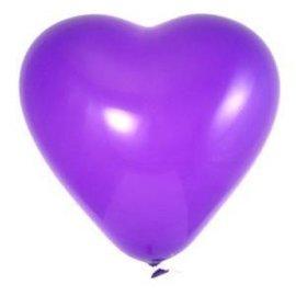 Paarse Hartjes Ballonnen 10 Stuks