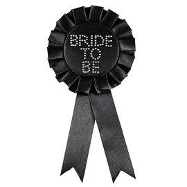 Zwarte Bride to Be Rozet