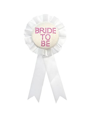 Witte Bride to Be Rozet
