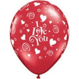 10x Rode I Love You Latex Ballonnen