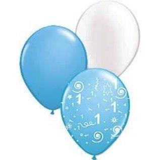1ste Verjaardag Jongen Versiering Balllonnen Feestperpost