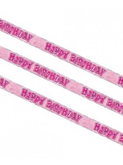 Happy Birthday Roze Glitter Banner