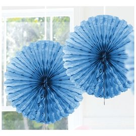 Lichtblauwe Honeycomb Waaiers Paper Fans