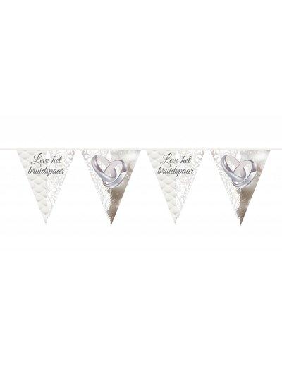 Leve Het Bruidspaar Ringen Vlaggenlijn