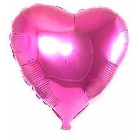 Roze Hartvormige Helium Folieballon