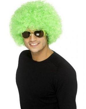 Funky Groene Afro Unisex Pruik