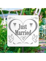 Just Married Tuinbord