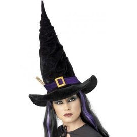 Zwarte Heksenhoed Paarse Riem