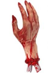 Griezelige Afgehakte Hand Met Bloed