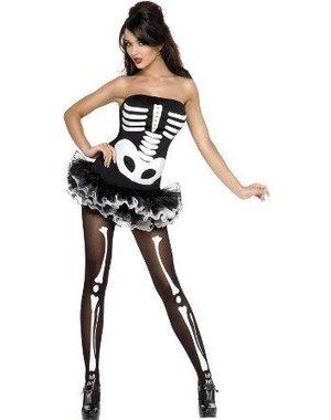 Fever Skeletten Print Sexy Jurk