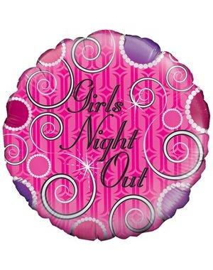 Vrijgezel Roze Girls Night Out Folieballon