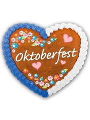 Oktoberfest Hartjes Button met LED