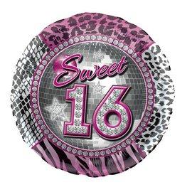 Sweet 16 Ronde Folieballon