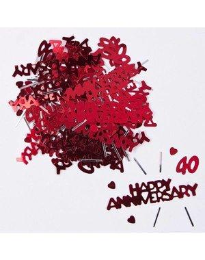 Ruby Happy Anniversary 40 Confetti