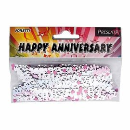 Gekleurde Happy Anniversary Foiletti