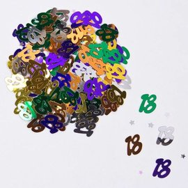 Gekleurde 18 Jaar Confetti Foiletti