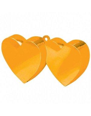 Ballongewicht Dubbele Hartjes  - Oranje
