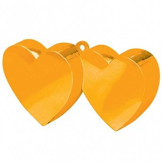Oranje Dubbele Hartjes Helium Ballongewicht