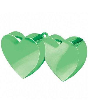Ballongewichten Dubbele Hartjes Groen - 12stk