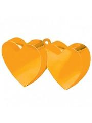 Ballongewichten Dubbele Hartjes Oranje - 12stk