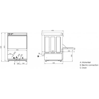 Maxima Horeca Glazenspoelmachine VNG-350