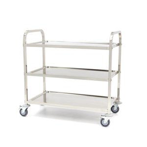 Maxima Stainless Steel Serving Trolley 3