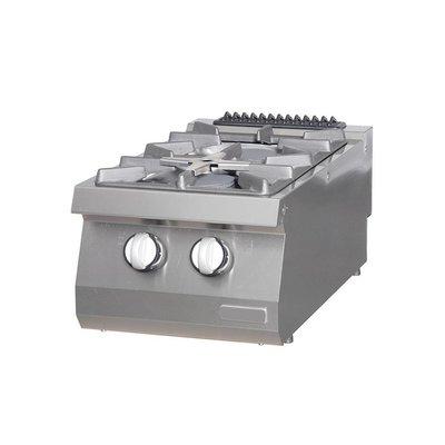 Maxima Heavy Duty Kookplaat - 2 Pitten - Gas