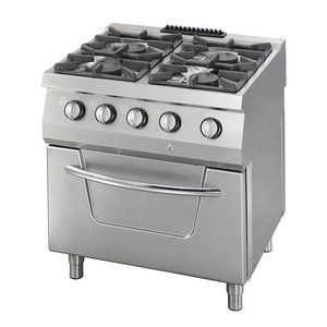 Maxima Heavy Duty Gas Stove - 4 Burners - Including Electric Oven