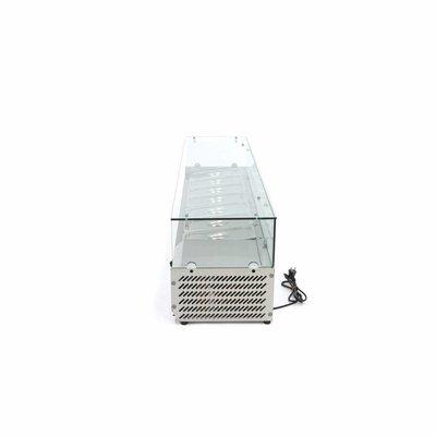 Maxima Aufsatszkühlvitrine / Gekühlte Aufsatzvitrine 160 cm - 1/3 GN