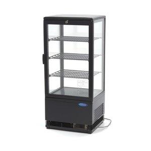 Maxima Mini Refrigerated Display Case / Refrigerated Display Case 78 Liter - Black
