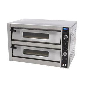 Maxima Deluxe Pizzaofen 6 + 6 x 30 cm Doppelt 400V
