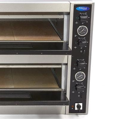 Maxima Deluxe Pizza Oven 6 + 6 x 30 cm Dubbel 400V